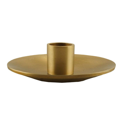 Metal Taper Holder - Simplicity - Gold, 4 inch - BCandle
