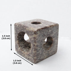 Soapstone Mini Candle Holder - Multi Size, Hand Crafted, Natural Stone - BCandle