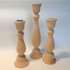 Wooden Candlestick, 7 Inch Tall - BCandle