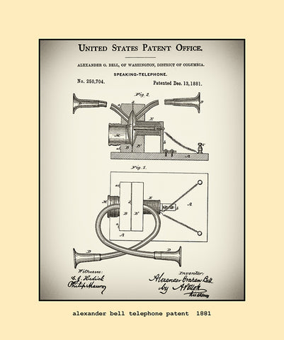 alexander bell telephone patent  1881