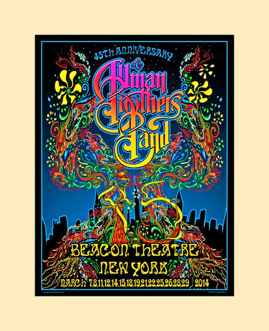 Allman Brothers 45th year concert poster