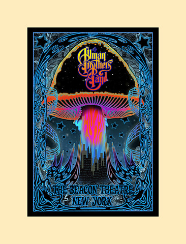 Allman Brothers concert poster