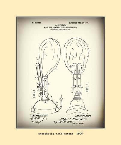 anesthetic mask patent  1906