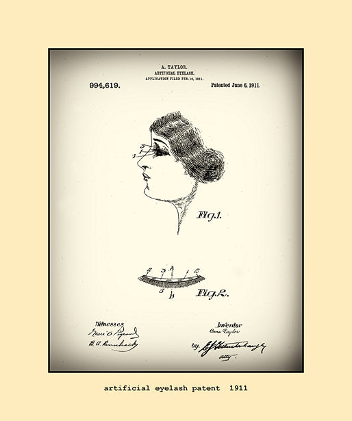 artificial eyelash patent  1911