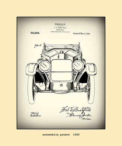 automobile patent  1920