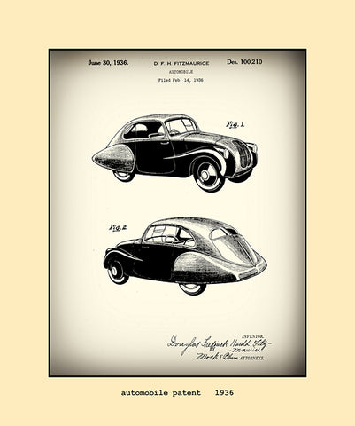 automobile patent  1936