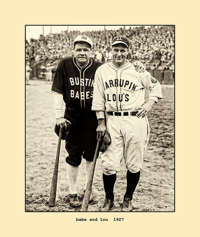 babe and lou  1927
