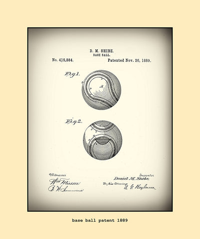 base ball patent  1889