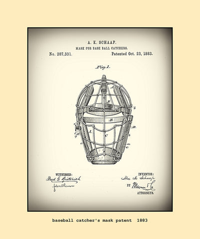 base ball catcher's mask patent  1883