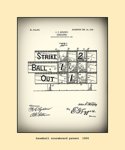 base ball scoreboard patent  1906