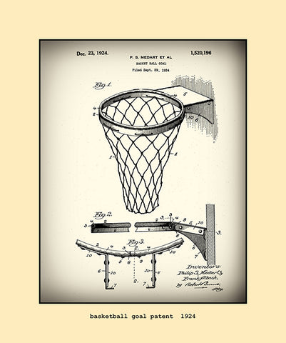 basketball goal patent  1924