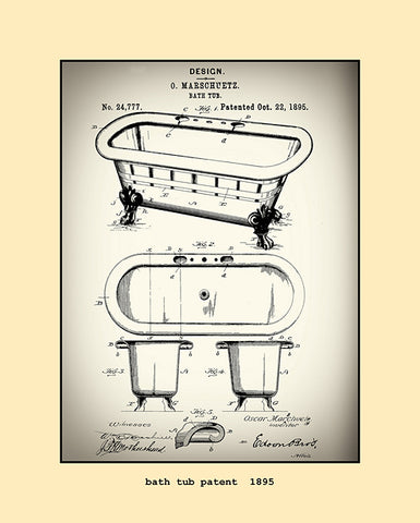 bath tub patent  1895