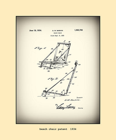 beach chair patent  1934