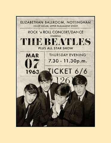 Beatles ticket poster