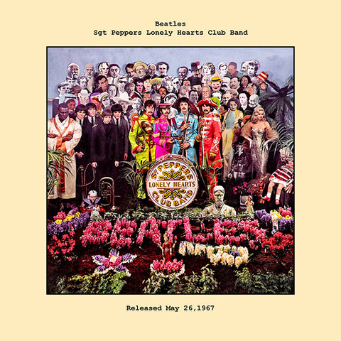 Beatles   sgt peppers lonely hearts club album cover  1967