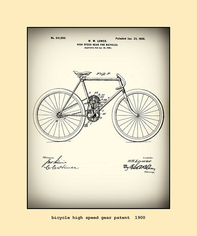 bicycle high speed gear patent  1900