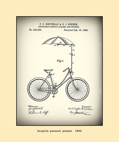 bicycle parasol patent  1896