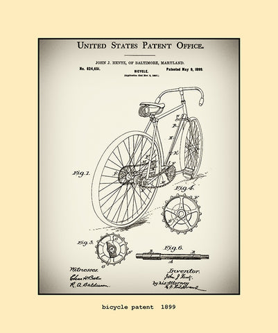 bicycle patent  1899