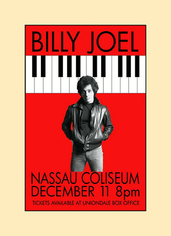 Billy Joel concert poster