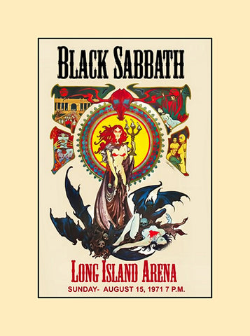 Black Sabbath long island arena concert poster