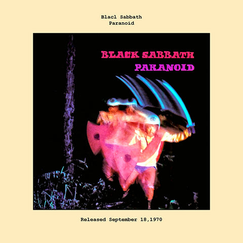 Black Sabbath   paranoid album cover  1970