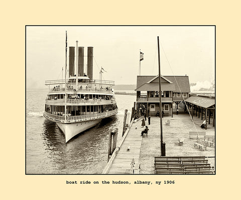 boat ride on the hudson, albany, ny  1904