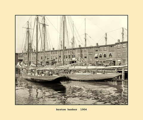 boston harbor  1904