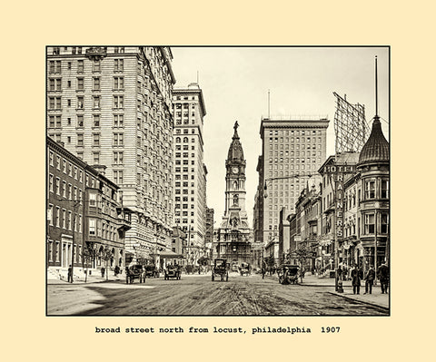 broad street north from locust, philadelphia  1907