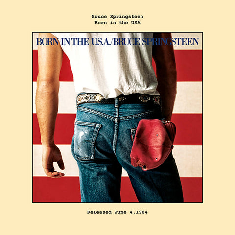 Bruce Springsteen   born in the usa album cover  1984