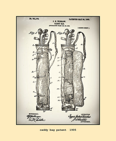 caddy bag patent  1905