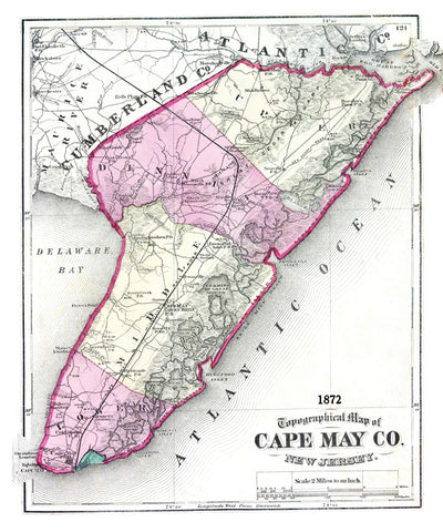 Cape May County  1872