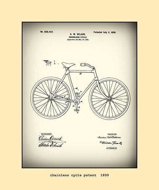 chainless cycle patent  1899
