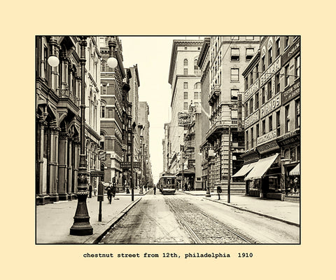 chestnut street from 12th, philadelphia  1910