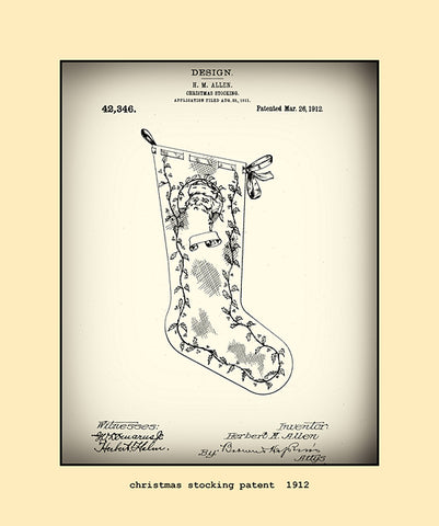 christmas stocking patent  1912