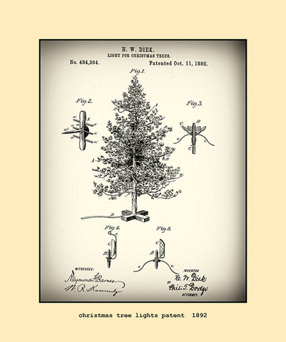 christmas tree lights patent  1892