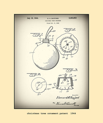 christmas tree ornament patent  1944