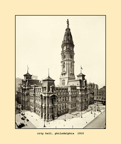 city hall, philadelphia  1910
