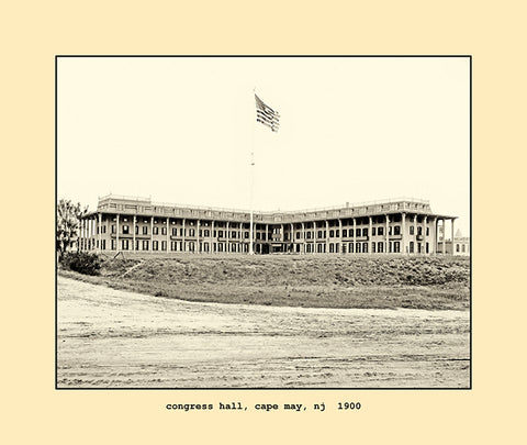 congress hall, cape may, nj  1900