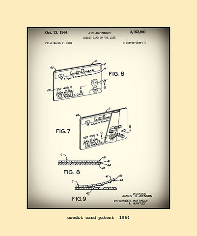 credit card patent  1964
