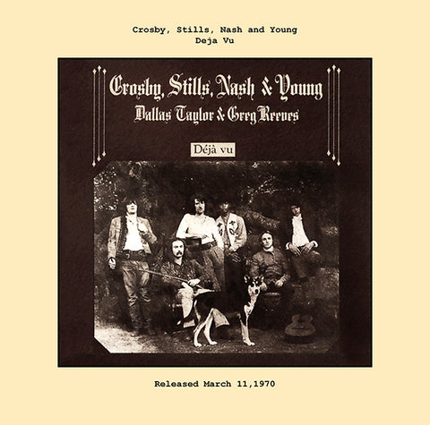 Crosby, Stills, Nash and Young   deja vu album cover  1970