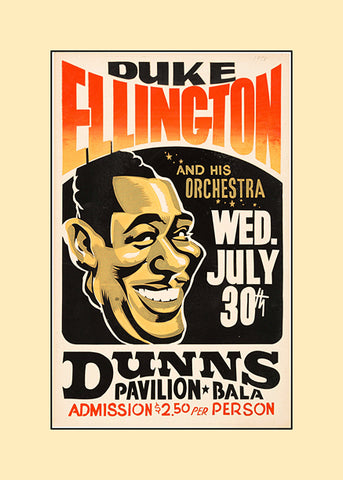 Duke Ellington concert poster