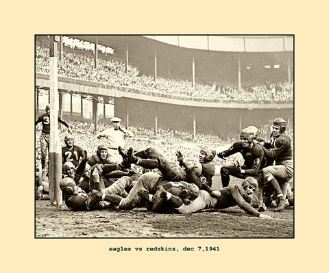 eagles vs redskins   dec 7,1941