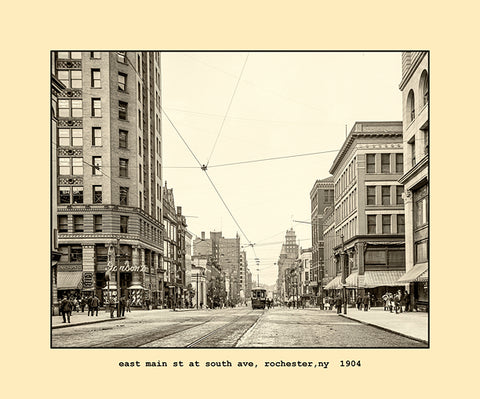 east main street at south avenue, rochester, ny  1904