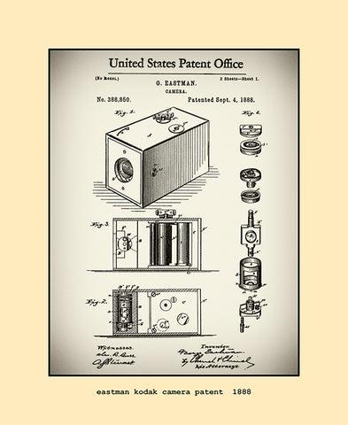 eastman kodak camera patent  1888