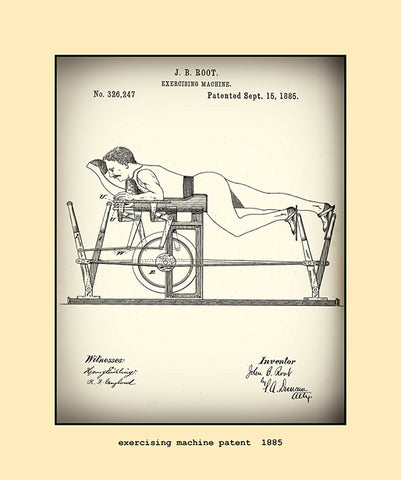 exercising machine patent  1885