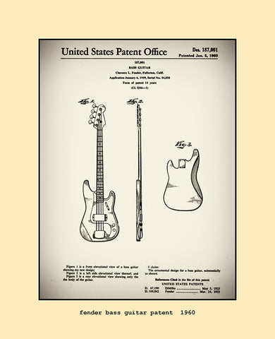 fender bass guitar patent  1960