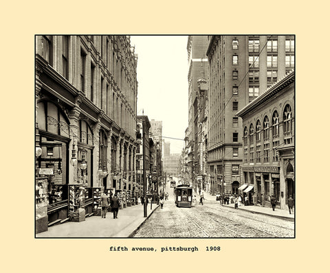 fifth avenue, pittsburgh  1908