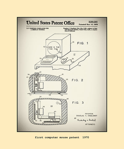 computer mouse patent  1970