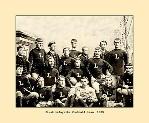first lafayette football team  1883