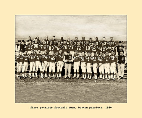 first patriots football team  1960
